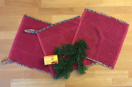 Handtuch-Upcycling: Ein unverpacktes Wichtel-Geschenk